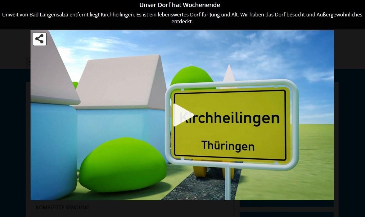 """""""Unser Dorf hat Wochenende"""" (Mitteldeutscher Rundfunk, Mediathek)"""