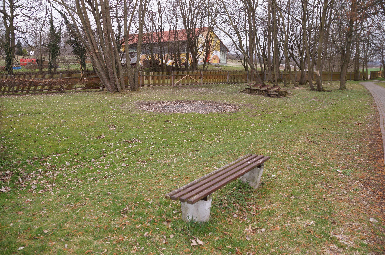 Schlosspark Goldacker vorher