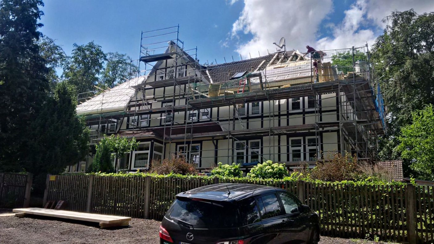 Dach Kinderheim Bauphase