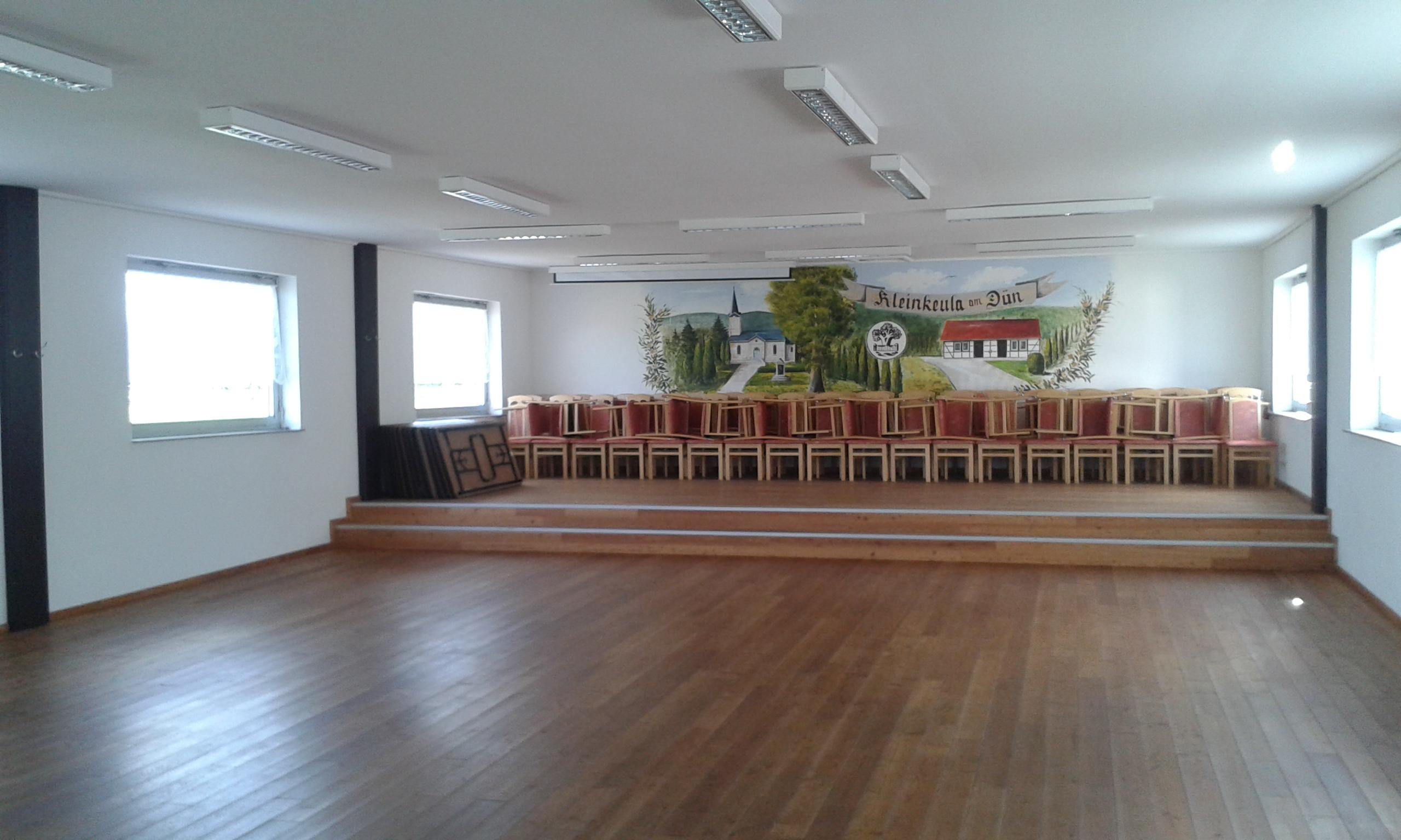 Festsaal Kleinkeula vorher