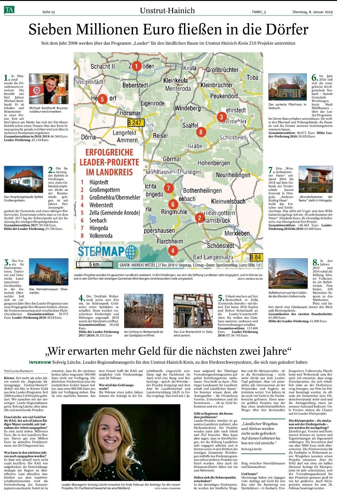 2019-01-08 Sieben Millionen Euro fließen in Dörfer TA.jpg
