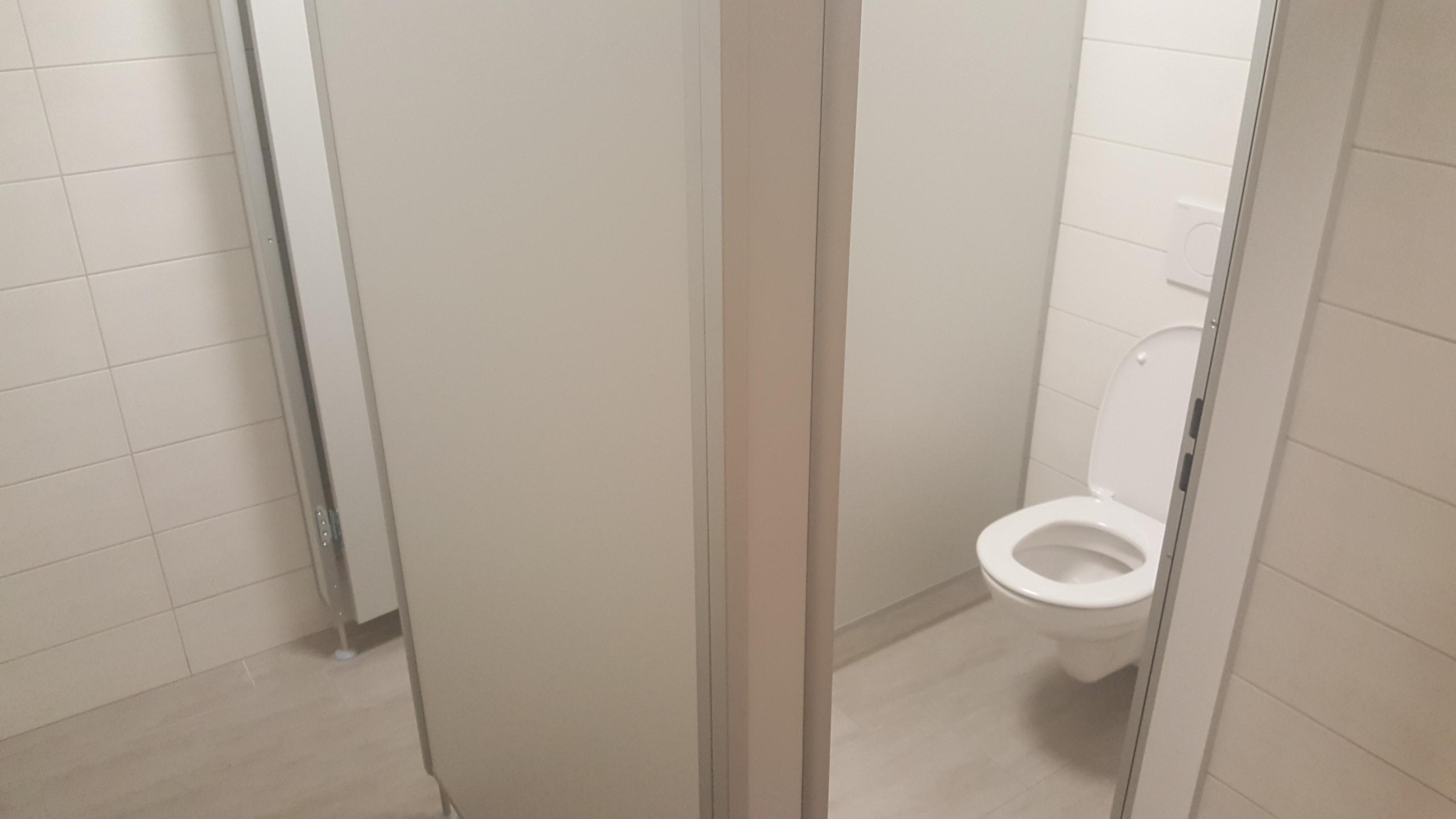 Toiletten nachher